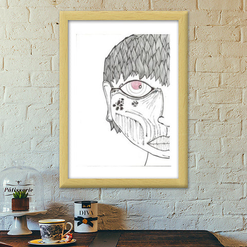 monster within zentangle Premium Italian Wooden Frames | Artist : Raj Patel