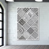 Prints in Squares Wall Art | Artist : Aniket Mitra