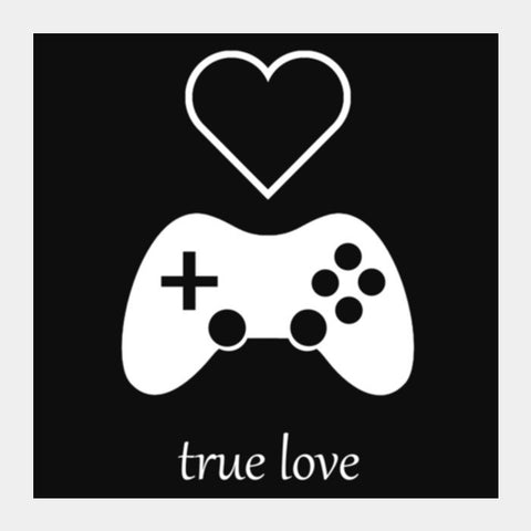 Square Art Prints, Gamer's True Love - Valentine's Day Square Art Prints | Artist : Armaan Sandhu, - PosterGully