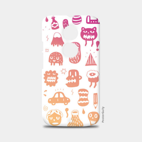 Crazy Monsters Moto X2 Cases | Artist : Aditya Golechha