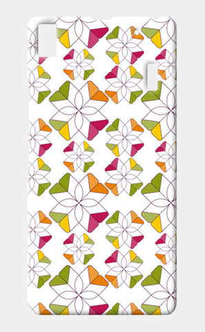 Flowers Retro Shapes Geometric Pattern On Multicolor Lenovo A7000 Cases | Artist : Designerchennai