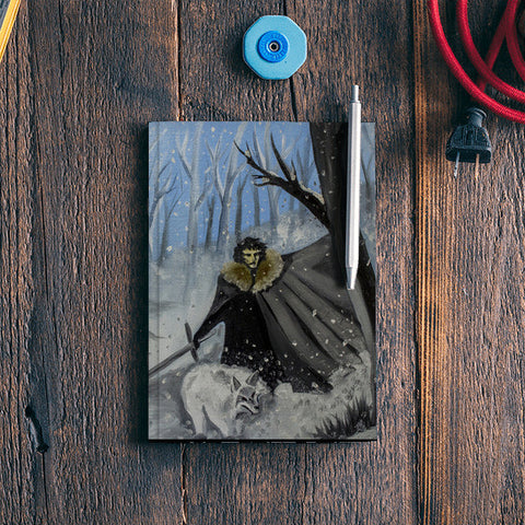 JON SNOW || Winter Has Come || Oil Paint Notebook | Artist : Ardour Art