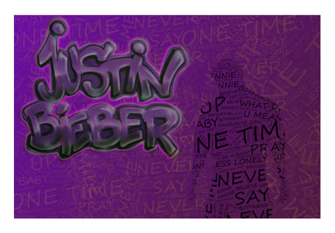 Justin Bieber Typography Art PosterGully Specials