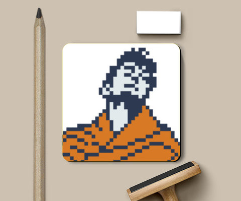 Dev Anand Guide Poster Pixel art Coasters | Artist : 8bitbaba