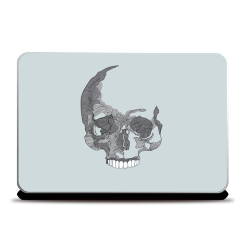 Lines Skull illustration  Laptop Skins | Artist : Harsimran sain