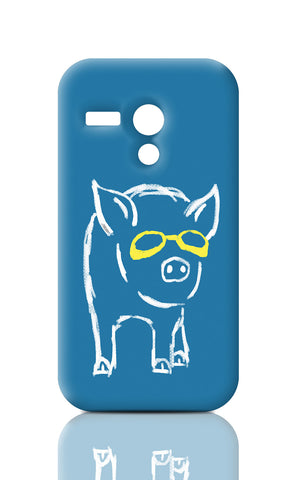 Moto G Cases, Piggy Wants To Be Cool Light Blue Moto G Case | By Captain Kyso, - PosterGully