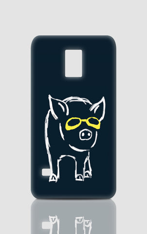 Samsung S5 Cases, Piggy Wants To Be Cool Navy Blue Samsung S5 Case | By Captain Kyso, - PosterGully