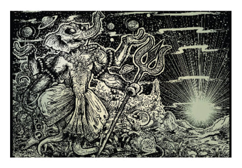 Wall Art, The Alien Dancing Ganapati Wall Art | Charbak Dipta, - PosterGully