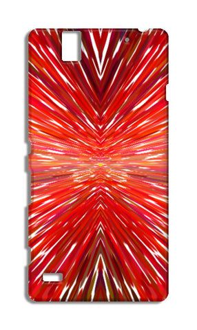 Abstract Red Burst Modern Design Sony Xperia C4 Cases | Artist : Seema Hooda
