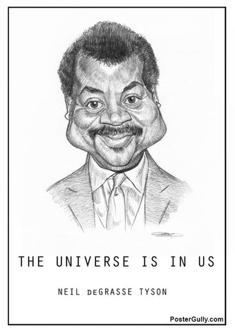 Brand New Designs, Neil De Grasse Tyson Sketch Artwork | Artist: Sri Priyatham, - PosterGully - 1