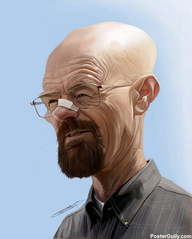 Wall Art, Breaking Bad Caricature Artwork | Artist: Sri Priyatham, - PosterGully - 1