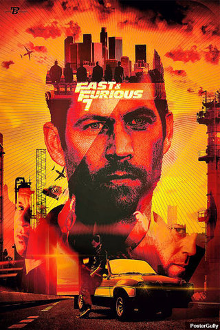 Wall Art, Furious #7 Artwork | Artist: Pankaj Bhambri, - PosterGully - 1