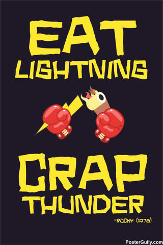 Wall Art, Crap Thunder Artwork | Artist: Jaiwant Pradhan, - PosterGully - 1