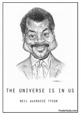 Wall Art, Neil De Grasse Tyson Sketch Artwork | Artist: Sri Priyatham, - PosterGully - 1