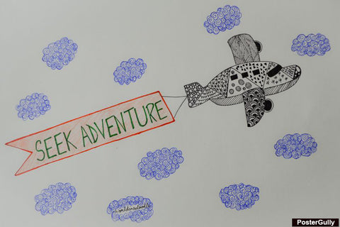 Wall Art, Seek Adventure Artwork | Artist: Sanira Mediratta, - PosterGully