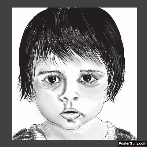 Square Art Prints, Cute Baby Artwork | Artist: Tanjima Kar, - PosterGully