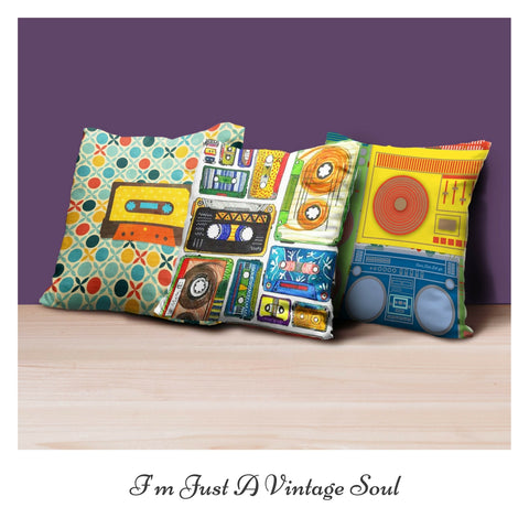 Set of 3 Vintage Music Cushion Covers