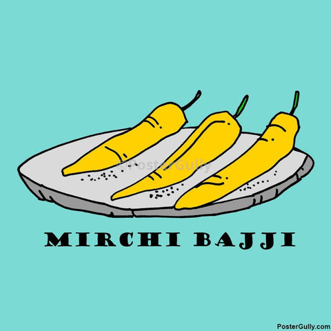 Brand New Designs, Mirchi Bajji Artwork | Artist: Pradeesh K, - PosterGully