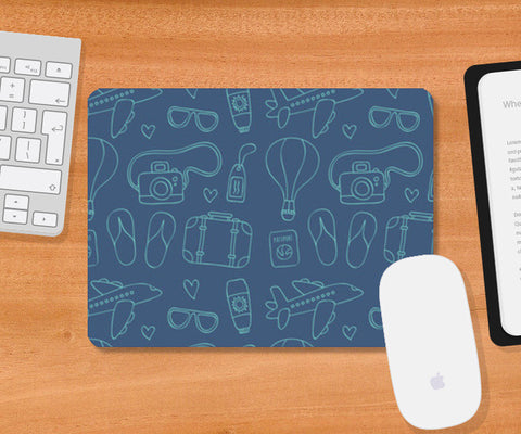 Sketchy Travel  Mousepad | Artist : Colour me expressive