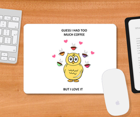 love coffee Mousepad | Artist : mytablecreations