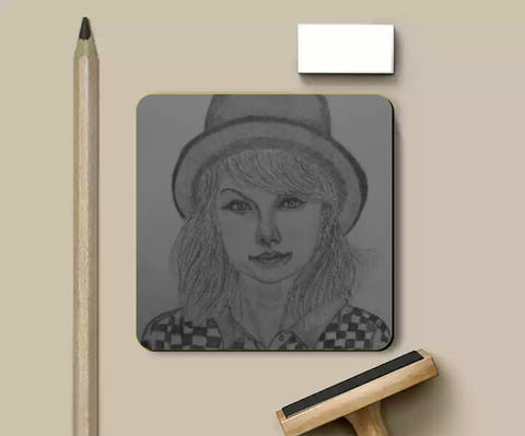 Coasters, Taylor Swift coaster | artist: Gaurav Sahu, - PosterGully