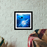 Space in the Ocean Premium Square Italian Wooden Frames | Artist : Ajay Seth