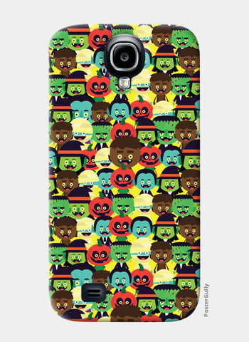 Samsung S4 Cases, HALLOWEEN MONSTERS Samsung S4 Case | Mona Singh, - PosterGully