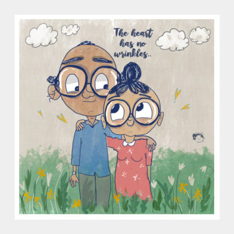 Old Love Square Art Prints | Artist : Doodleodrama