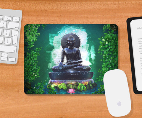Buddha peace comes from within Mousepad | Artist : Cuboidesign