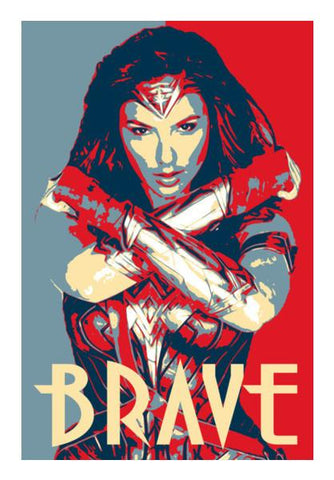 PosterGully Specials, Wonder Woman Brave Wall Art | Artist : LinearMan, - PosterGully