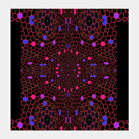 Square Art Prints, Honeycomb Square Art Prints | Artist : Hemant Kumar Gandhi, - PosterGully