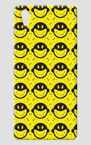 Monkey tongue out on black and yellow One Plus X Cases | Artist : Designerchennai