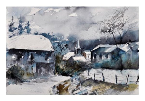 PosterGully Specials, snow in gendron Wall Art  | Artist : pol ledent, - PosterGully