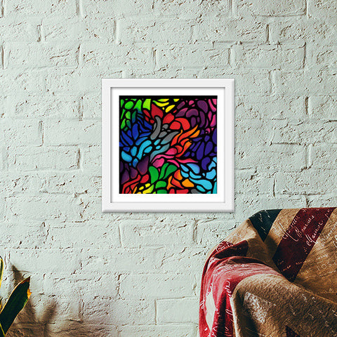 Colour Fix Premium Square Italian Wooden Frames | Artist : Animal kingdom