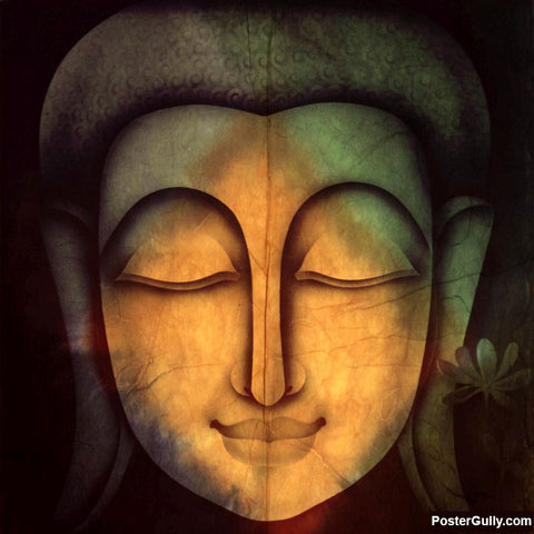 Brand New Designs, Buddha Cracked Face Artwork | Artist: Pradeesh K, - PosterGully