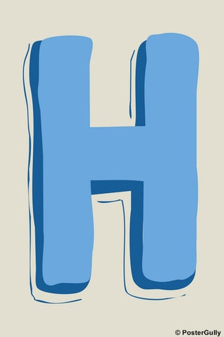 Wall Art, H-Alphabets, - PosterGully