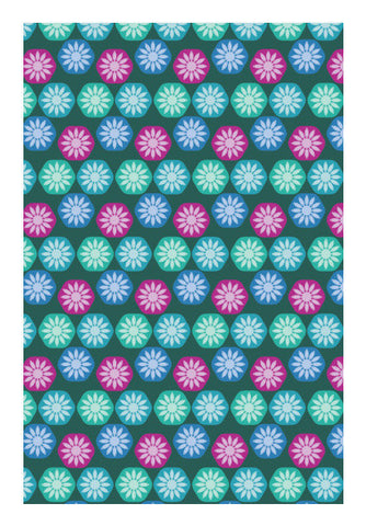 Abstract Colorful Floral Vector Pattern Art PosterGully Specials
