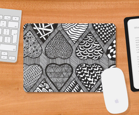 Prints in Hearts Mousepad | Artist : Aniket Mitra