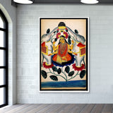 Lakshmi purified by two elephants Giant Poster | Artist : Scatterred Partikles