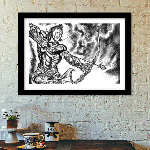 Premium Italian Wooden Frames, Savior Rama Premium Italian Wooden Frames | Artist : Draw On Demand, - PosterGully - 1