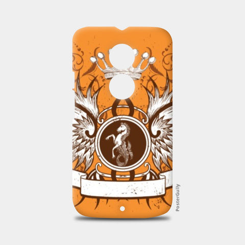 Moto X2 Cases, horse with wing,Crown and Floral Moto X2 Cases | Artist : Anshuraj Tyagi, - PosterGully