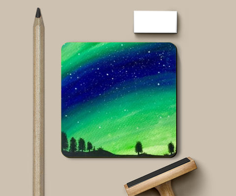 PosterGully Coasters, The Northern Lights Coasters | Artist : Akshita Shah, - PosterGully