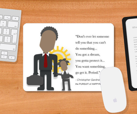 The Pursuit of Happyness |  Minimal Poster | Will Smith | Quotes Mousepad | Artist : Sriparna Chandra
