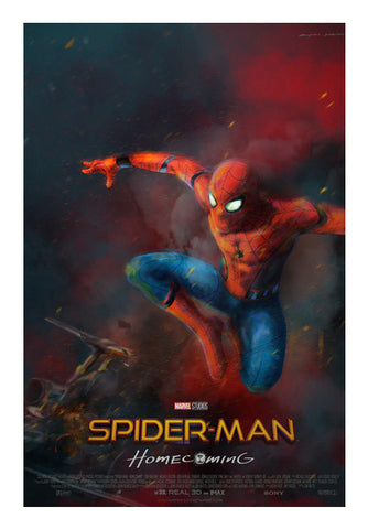 Spider Man Homecoming Artwork Wall Art | Artist : Anupam Prasoon