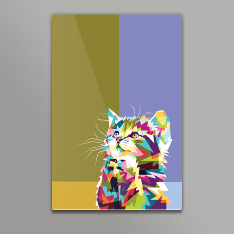 Colorfully Cat Hope Metal Prints | Artist : Inderpreet Singh