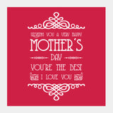 Beautiful Mother's Day Typography Square Art Prints | Artist : Designerchennai