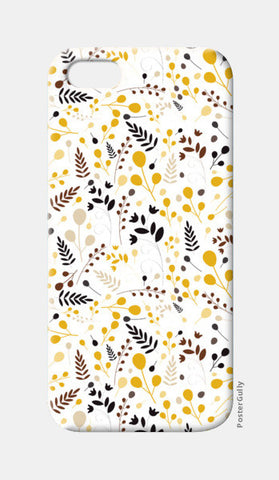 Floral seamless pattern on yellow iPhone 5 Cases | Artist : Designerchennai
