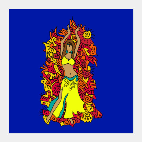 Square Art Prints, BellyDancer Zenscrawl Square Art Prints | Artist : Meghnanimous, - PosterGully