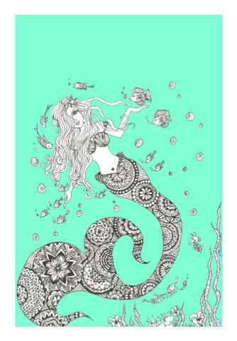 Wall Art, Mermaid Wall Art | Artist: Surabhi Kuthiala, - PosterGully