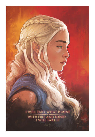 Wall Art, Game of Thrones | Daenerys Targaryen | red Wall Art | Artist : Aniruddha Lele, - PosterGully